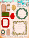 Christmas Joy printable digi scrap download kit including printable embellishments - use with a digital cutting  machine such as the Silhouette Cameo or Brother Scan and Cut
