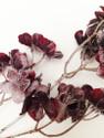 Dark Purple Glitter Frosted Flower stems -  Embellishments