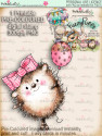 Earlie Hedgehog Balloon - Fuzzypuffs COLOUR digi stamp printable download