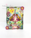 "Unicorns & Rainbows - 6 x 6"" creative craft mixed media stencil"