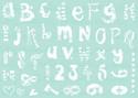 Funky Alphabet - A5 creative craft stencil