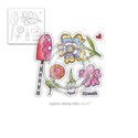 Wild Garden clear Stamp set )also available individually)