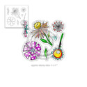 Adorable Florable clear Stamp set )also available individually)