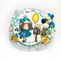 "Invitation- ""precoloured"" Winnie winter celebration digital papercrafting download"