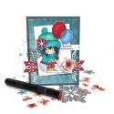 "Celebration- ""precoloured"" Winnie winter celebration digital papercrafting download"