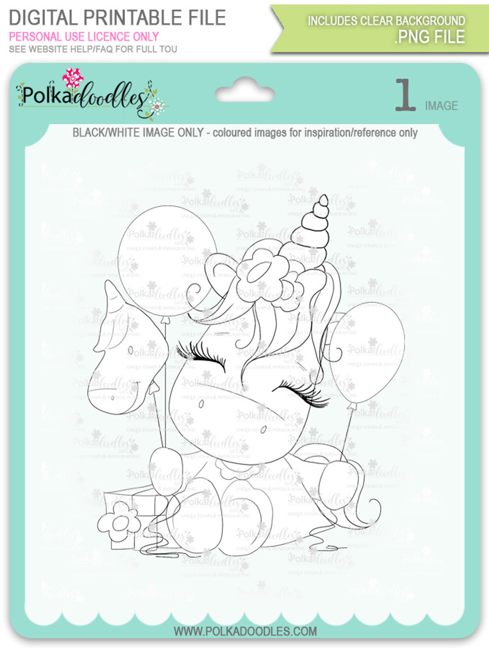 Special Time - Sparkle Unicorn digi stamp download