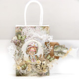 Make a gorgeous gift bag using Holly Spring Bunny digital stamp...
