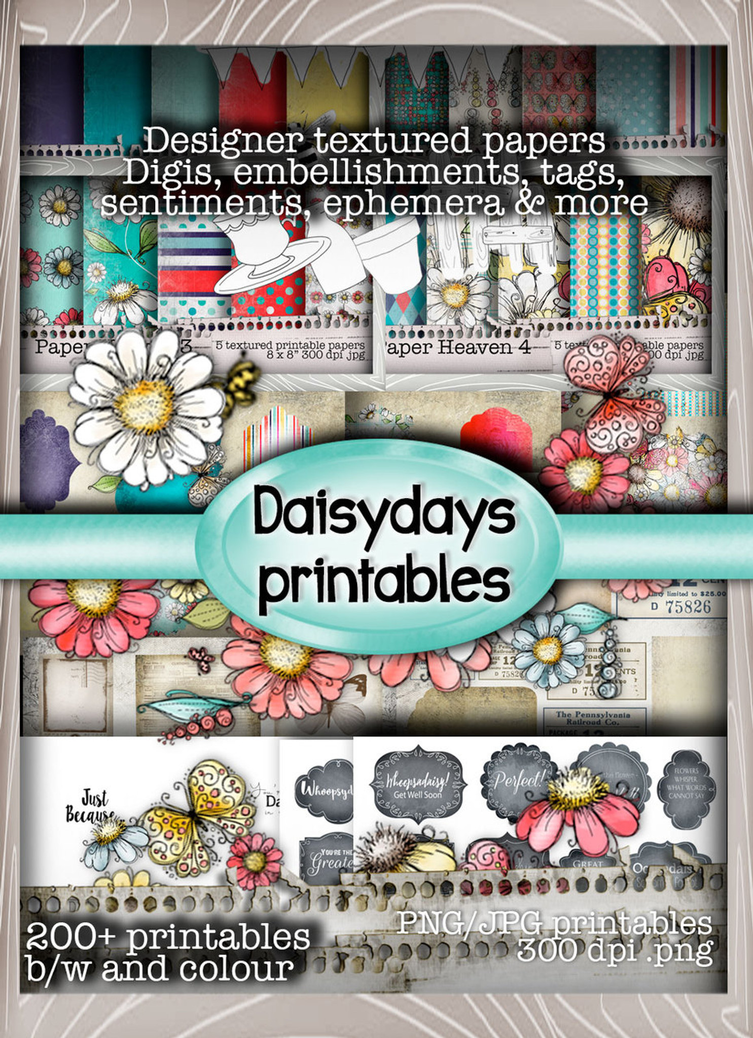 image relating to Stamps Printable referred to as Daisydays - Stamp ME Downloadable Printable CD-rom