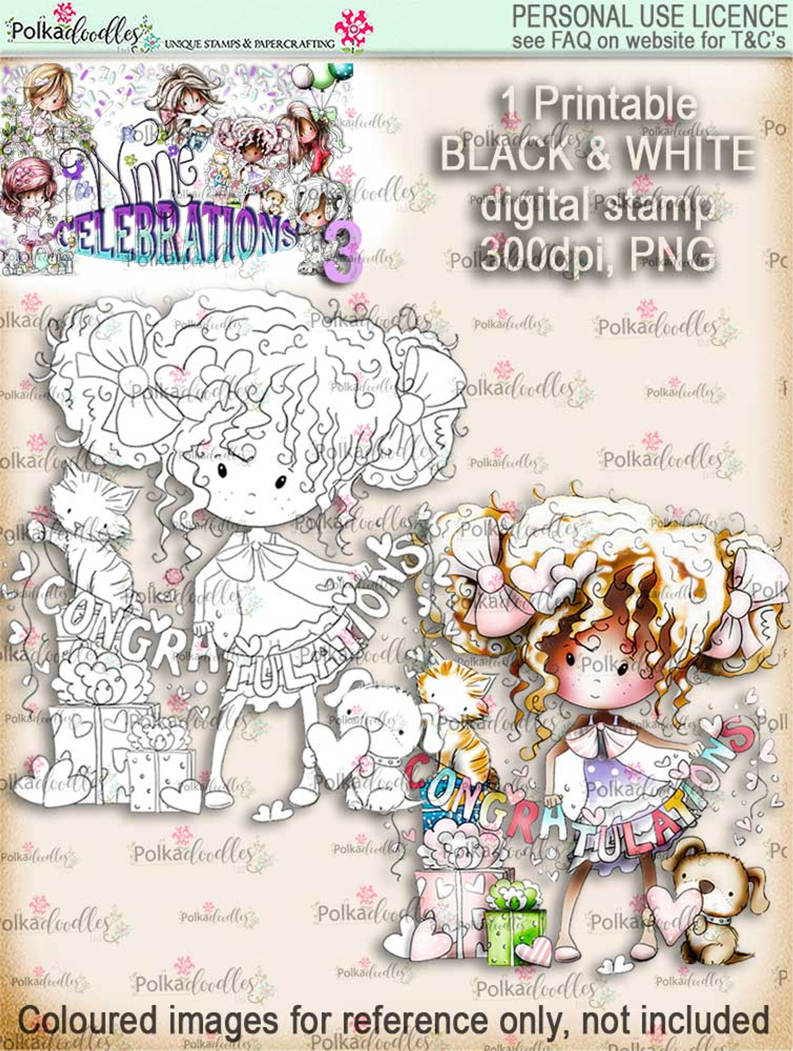 graphic relating to Stamp Printable identified as Engaged/Congratulations digi stamp printable down load - Winnie Celebrations 3