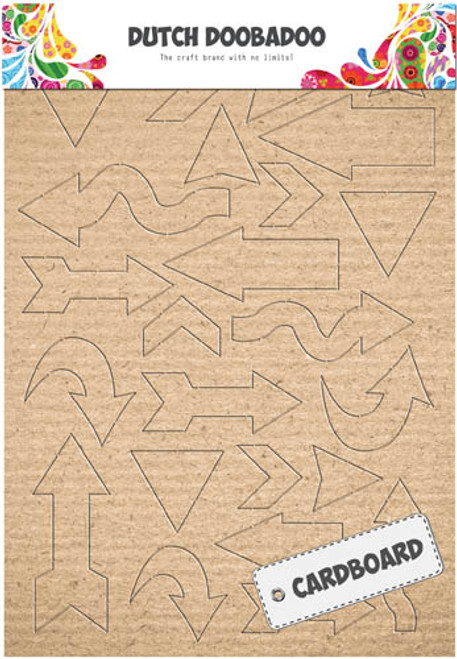 Cardboard/Kraft Art A5 - Arrows