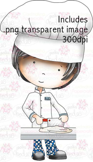 Male Chef/Cook/Baker/kitchen digital stamp download