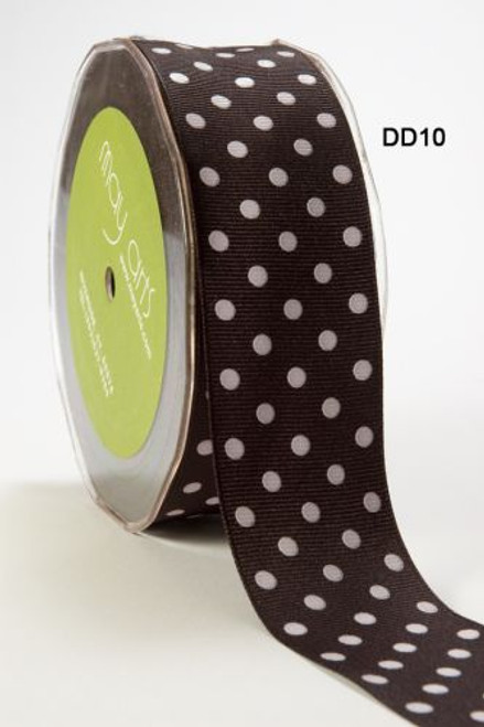 Black/Grey Polka Dot ribbon 16mm wide