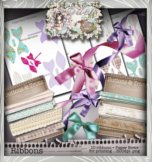 Eden Collection - Ribbon Fetish Digital Craft Download Bundle