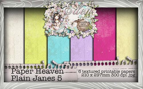 Eden - Paper Heaven Plain Jane 5 Digital Craft Download