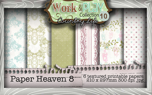 Work & Play 10 Collection - Paper Heaven 8 Digital Craft Download Bundle