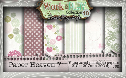 Work & Play 10 Collection - Paper Heaven 7 Digital Craft Download Bundle