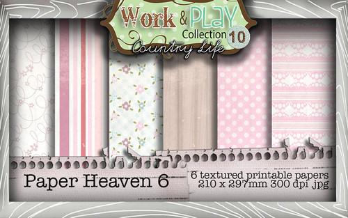 Work & Play 10 Collection - Paper Heaven 6 Digital Craft Download Bundle