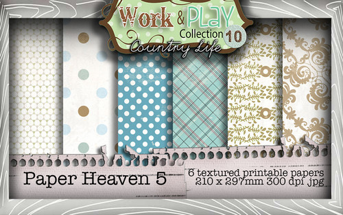 Work & Play 10 Collection - Paper Heaven 5 Digital Craft Download Bundle