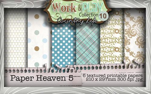 Work & Play 10 Collection - Paper Heaven 5 Digital Craft Download Bundle