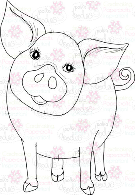 Piggy 1 Digital Stamp - Digital Craft Download