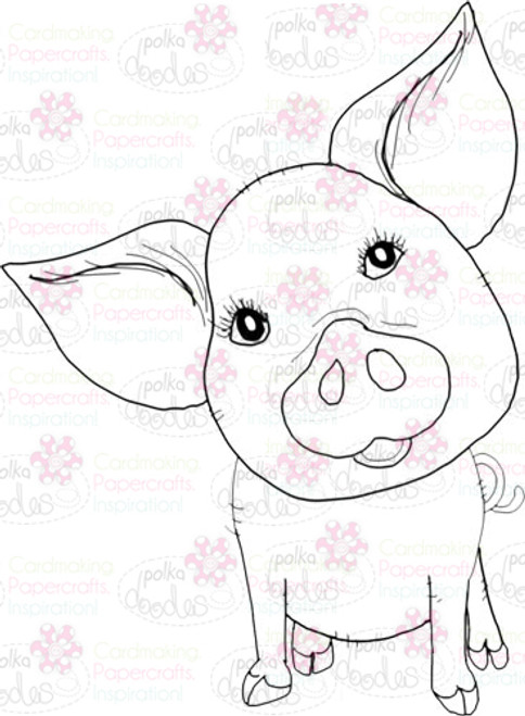 Piggy 2 Digital Stamp - Digital Craft Download