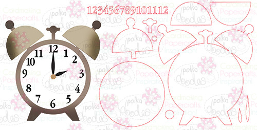Tick Tock clock- Digital Cutting File download for Silhouette Cameo, Scan n Cut etc