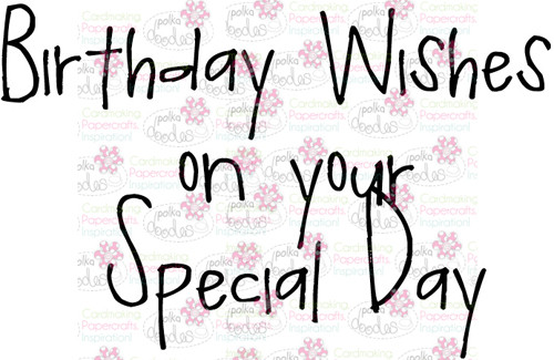 Birthday wishes sentiment downloadable digital stamp