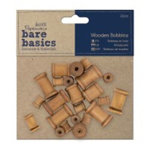 Bare Basics Wooden Bobbins (22pc)