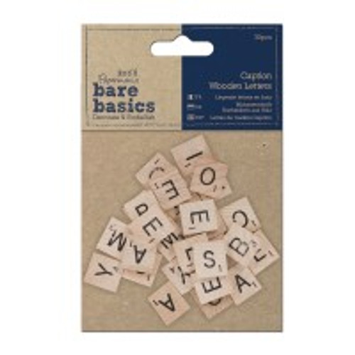 Bare Basics Scrabble Caption Wooden Letters (30pc)