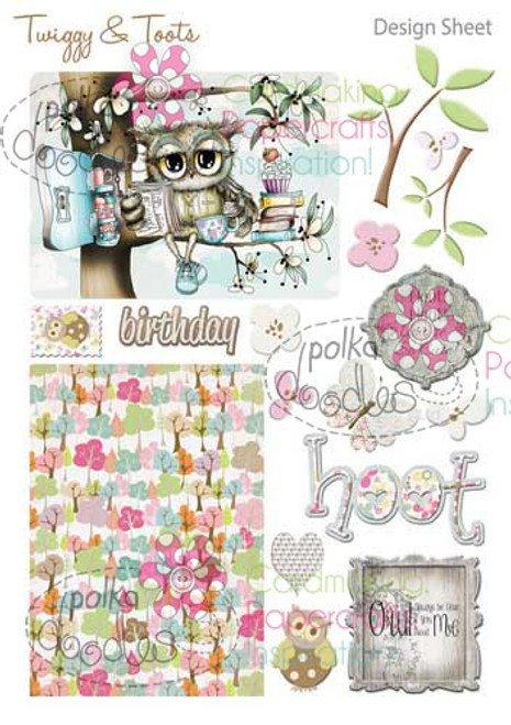Twiggy & Toots Digital Craft Download - Design Sheet 4
