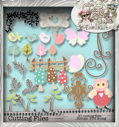 Twiggy & Toots SVG Print & Cut Cutting File bundle - Digital Craft Download