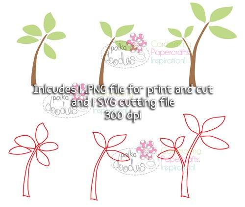 Leaves/branches/trees SVG Cutting file - Digital Craft Download