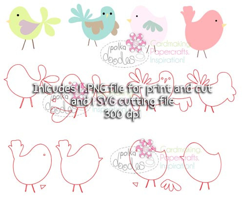 Birds SVG Cutting file - Digital Craft Download