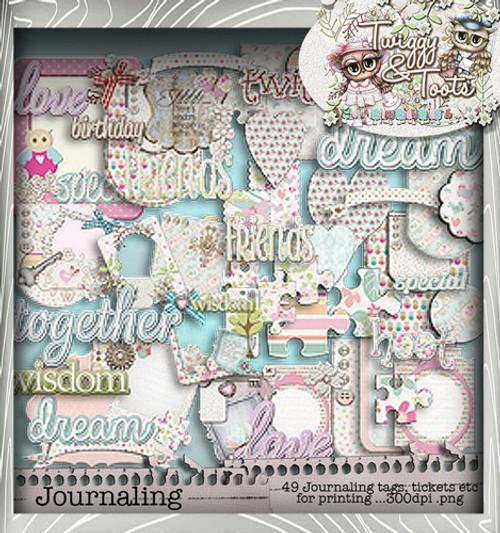 Twiggy & Toots Journaling Heaven bundle - Digital Craft Download