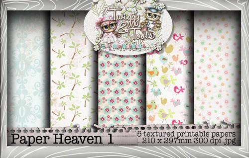 Twiggy & Toots Paper Heaven 1 bundle - Digital Craft Download