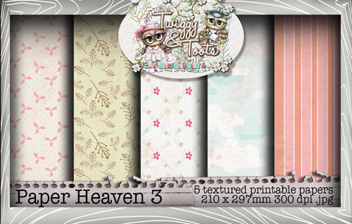 Twiggy & Toots Paper Heaven 3 bundle - Digital Craft Download