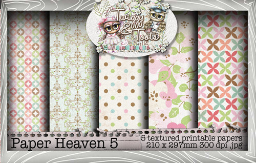 Twiggy & Toots Paper Heaven 5 bundle - Digital Craft Download