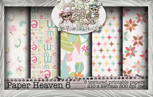 Twiggy & Toots Paper Heaven 6 bundle - Digital Craft Download