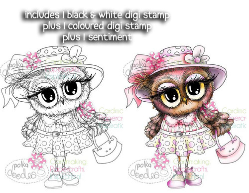 Hats Off Twiggy- Twiggy & Toots - Digital Stamp Craft Download