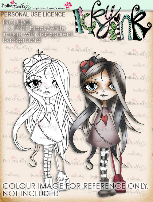 Oddella with bag Ickyink Art alternative digistamp - Digital Craft Download