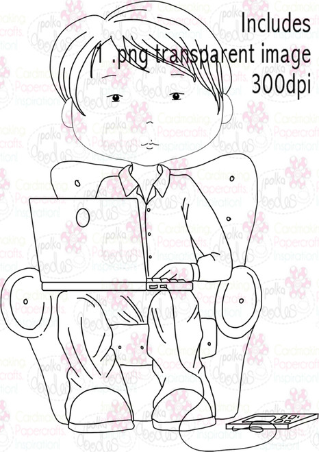 PC/Laptop/Technology guy - Digital Stamp Download