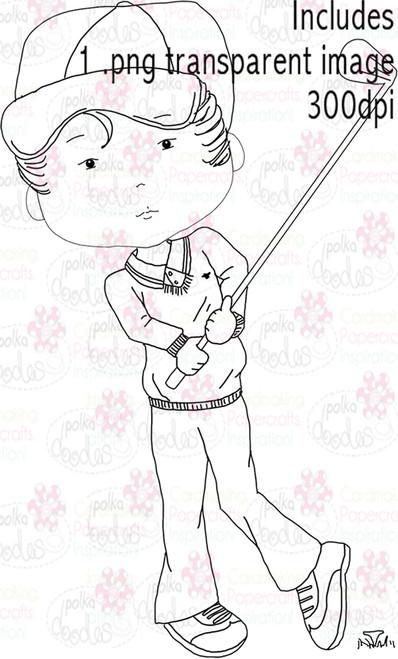 Golfer, Golfing - Digital Stamp Download