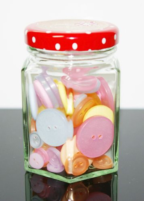 Button Jar Assortment - Pastels