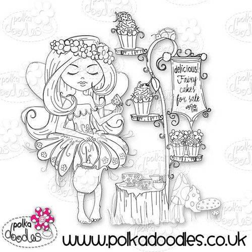 Serenity Fairy Cake - Digital Craft Stamp download