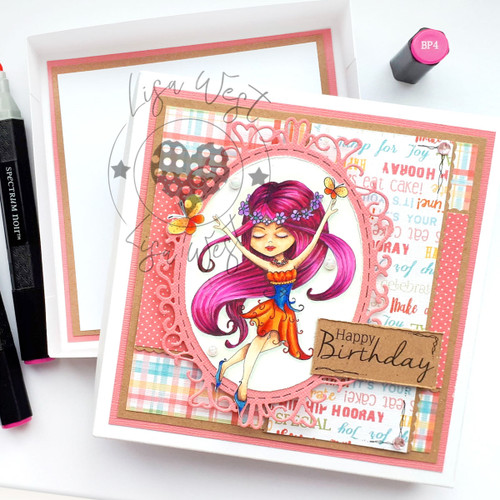 Serenity Fairy Joyful - Digital Craft Stamp download