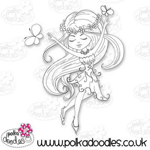 Serenity Fairy Joyful - Digital Craft Stamp download