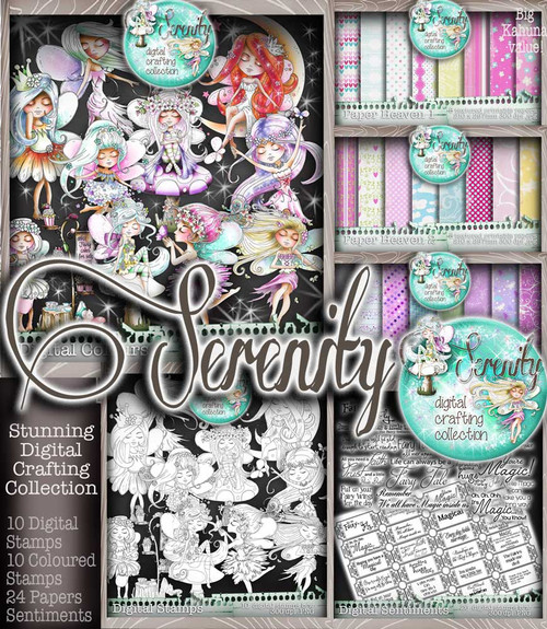 Serenity Fairy Wishes - Digital Craft download bundle