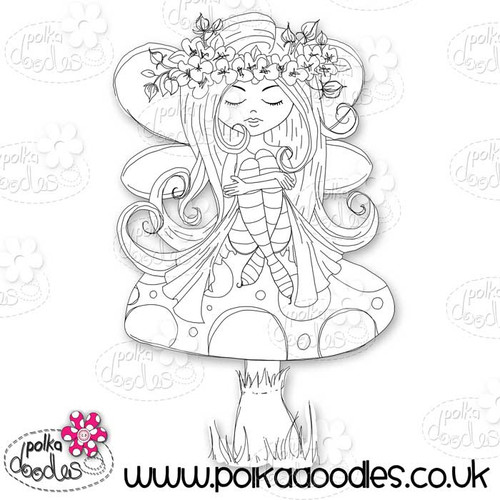 Serenity Fairy Resting - Digital Craft Stamp download