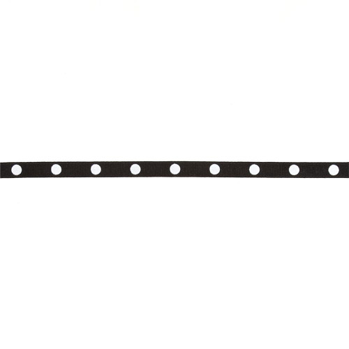 Black dot ribbon 1m - grosgrain, Bazzill