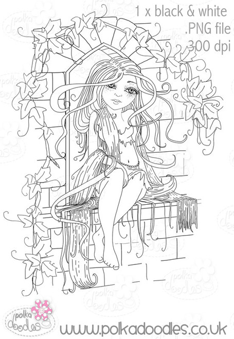Rapunzel - Digital Craft Stamp download